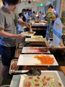 ホテル日航アリビラ 朝食 オムレツ バイキング