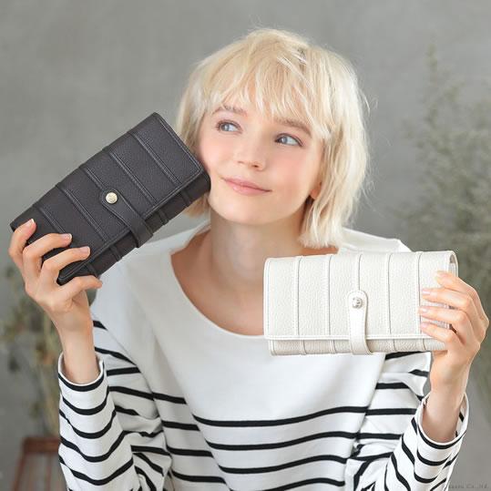 Cleriaのカードがたくさん入る 財布 大容量 長財布 レディース 白と黒も人気