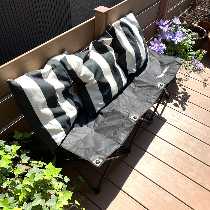 ベランダバーベキューのおすすめ折り畳みベンチ。 BBQグッズ