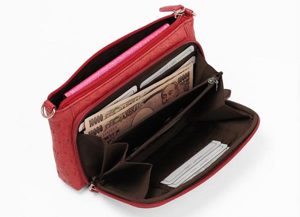 お財布は外側 スマホも入るお財布ポーチ お財布ポシェット