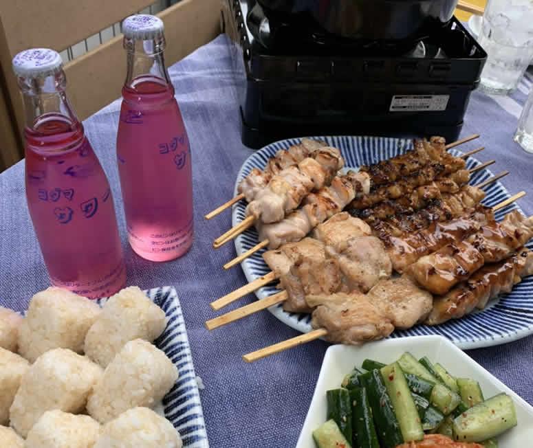 ベランダバーベキュー(BBQ) 焼き鳥 キムチ