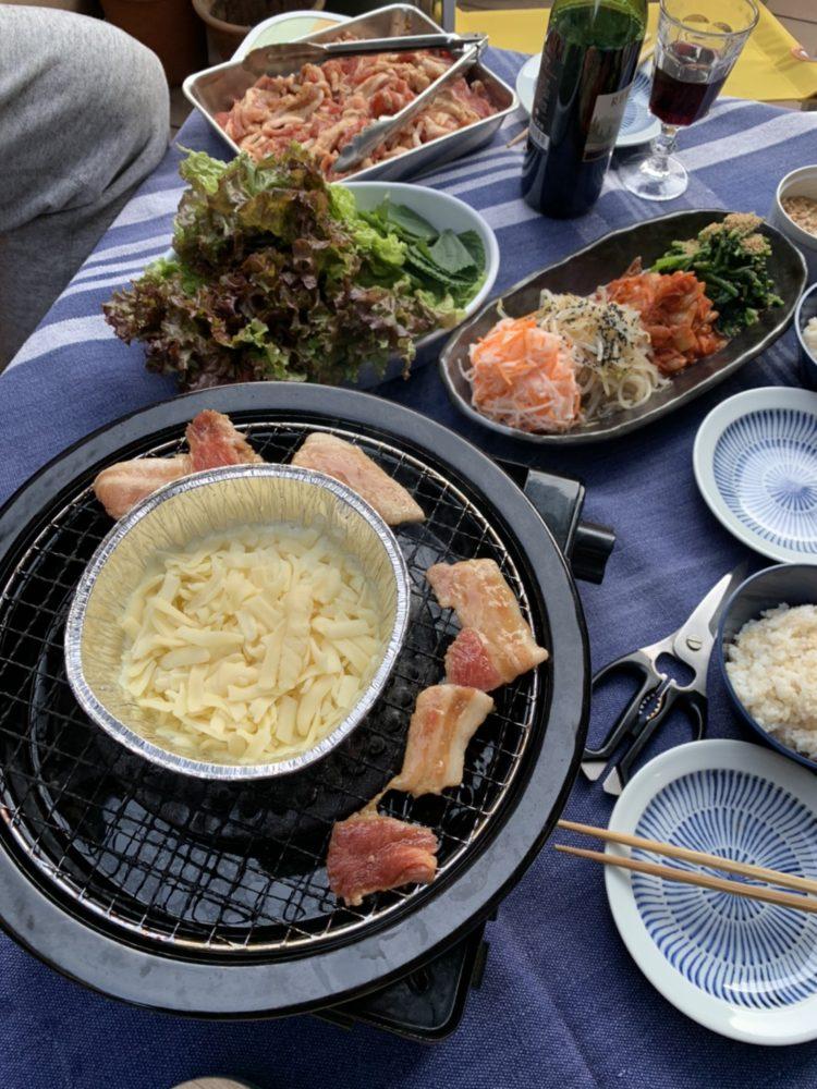 ベランダバーベキュー(BBQ) チーズサムギョプサル