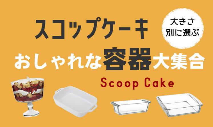 スコップケーキの容器